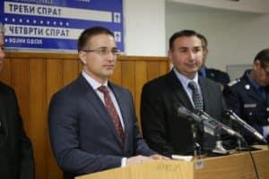 Nebojša Stefanović (levo) i Nikola Popovac, novi načelnik pančevačke policije