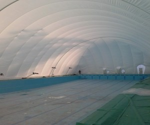 Pokriven olimpijski bazen na Strelištu